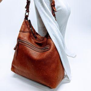 Banana Republic Full Grain Cognac Leather Bag